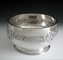 Arts & Crafts Large Silver Bowl